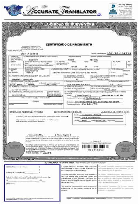 birth certificate translation template mexican birth certificate translation template certified
