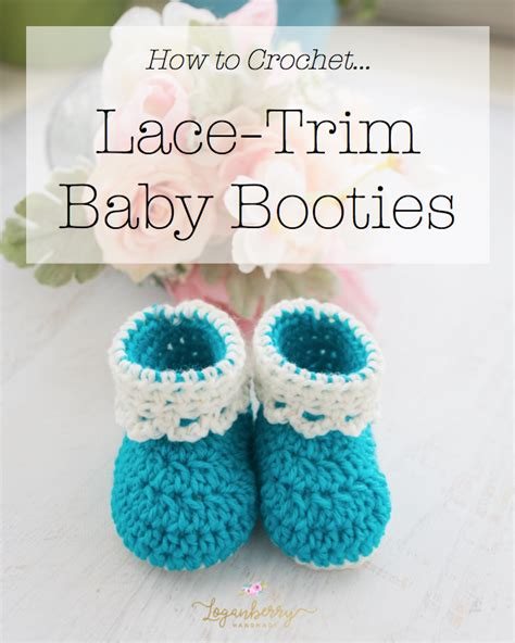baby booties lace trim baby booties free crochet pattern 187 loganberry