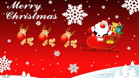 merry christmas santa claus sledge   deer christmas tree ornament greeting card