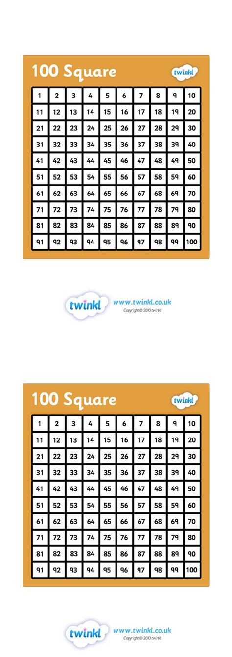 printable numbers twinkl twinkl resources gt gt hundred square gt gt classroom printables