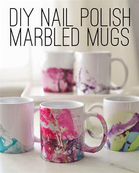 design coffee mug with nail polish diy coffee mugs for your morning java