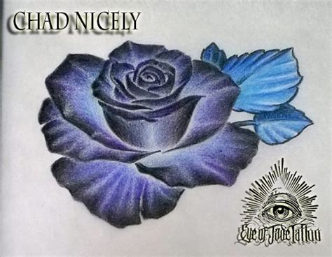 blue rose tattoo shop blue design by chad nicely by eyeofjadetattoos