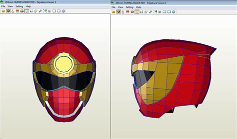 Papercraft Viewer - kit arma tu casco daft iron thor capitan
