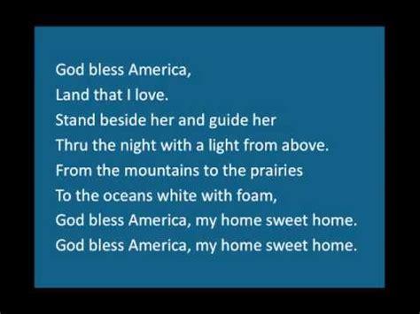printable lyrics god bless america god bless america youtube