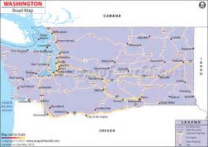 Washington State Highway Map by Washington Road Map Http Www Mapsofworld Com Pinterest
