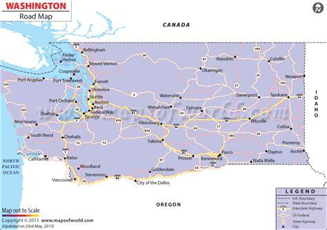 washington state usa map washington road map washington state highway map