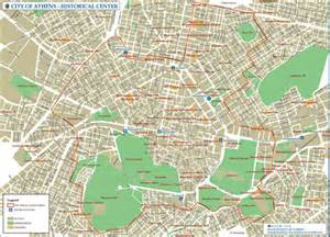 athens historical center map athens greece mappery