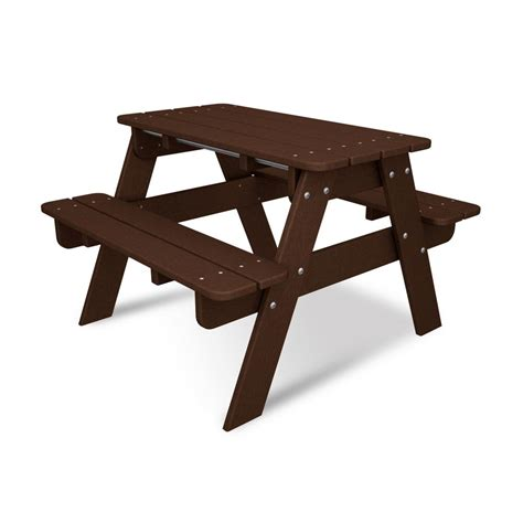 polywood kids plastic patio picnic table kt130ma the