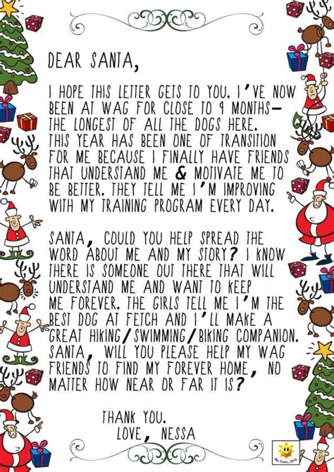 letters  santa whistler animals galore wag whistlers animal shelter