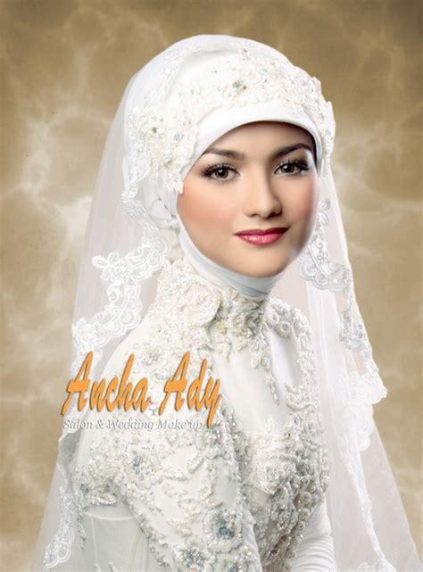 tutorial make up pengantin malaysia ancha ady salon wedding make up wedding hijab