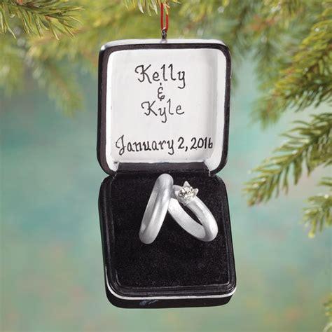Wedding Box Ornaments personalized wedding ring box ornament ornament