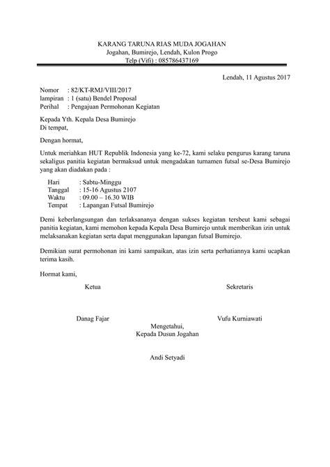 contoh surat pengajuan permohonan yang baik