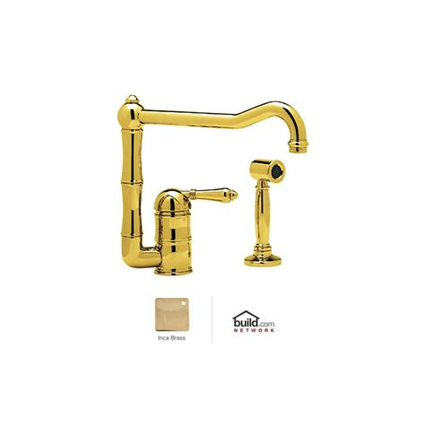 shop rohl country kitchen inca brass 2 handle deck mount faucet com a3608 11lmwsib 2 in inca brass by rohl