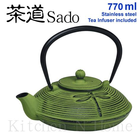 Jamie Oliver Kitchen Knives Cast Iron Teapot Japanese Style 770ml Green Tea Infuser