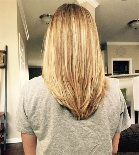long hairstyles with rounded back v shape in the back with some long layers my new hair