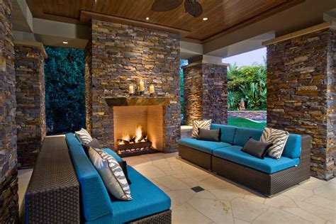Outdoor Stacked Fireplace Built In Green Egg Outdoor Stacked Stone Fireplace Built In Green Egg Dry