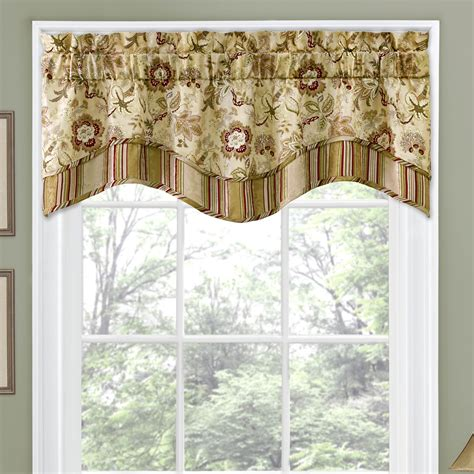 curtain valence traditions by waverly navarra floral 52 quot curtain valance