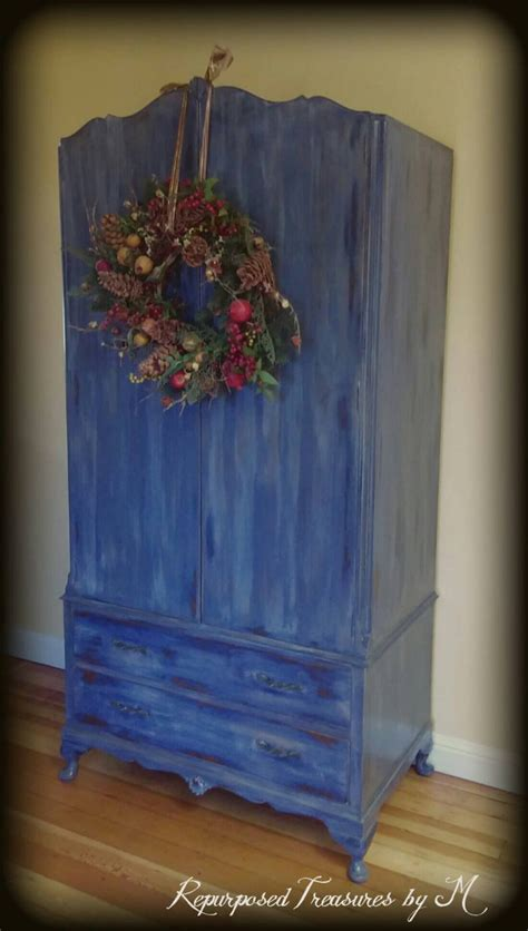 childrens armoire vintage armoire blue armoire children s furniture by