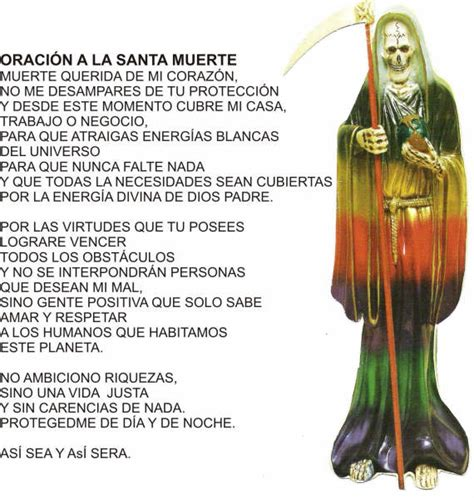oracion de la santa muerte oracion a la santa muerte para conflictos familiares