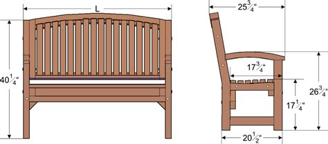 bench sizes wooden garden bench dimensions woodguides