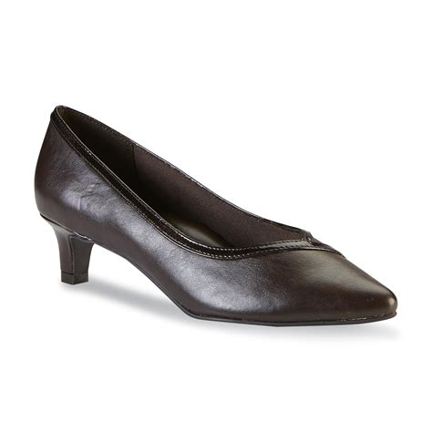Soletopia Brown Low Heels soft style by hush puppies s brown low heel shop your way shopping