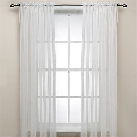 63 inch curtains bed bath beyond buy eggshell rod pocket sheer 63 inch window curtain panel