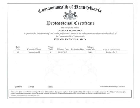 Pa Number Search Pennsylvania Teaching Certificate
