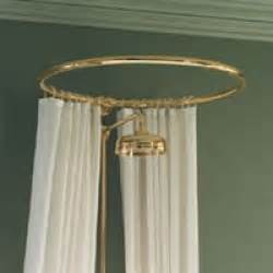 Bathroom Shower Rails The Bathroom Look N D Circular Shower Curtain Rail Wall Fixing In Polished Brass Gold