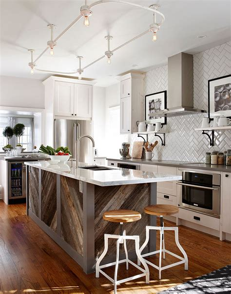 old kitchen island 20 gorgeous ways to add reclaimed wood to your kitchen
