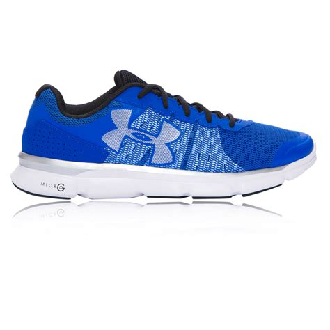 armour sports shoes armour micro g speed mens blue running sports