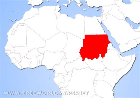 where is sudan on the world map where is sudan located on the world map