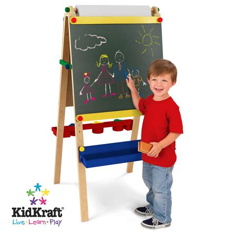 kid craft easel kidkraft artist easel with paper roll