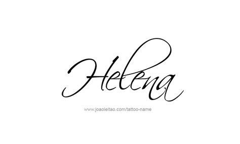 helena name tattoo designs