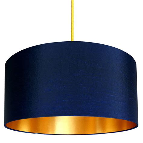 Midnight Blue L Shade gold or copper lined lshade in midnight blue by