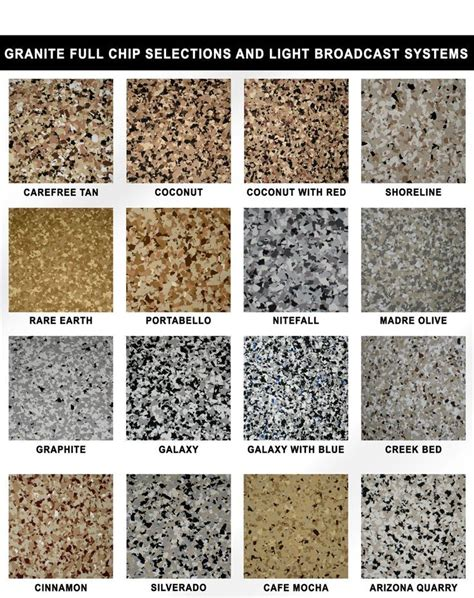 Epoxy flake color chart   Fast Finish  an elite choice in