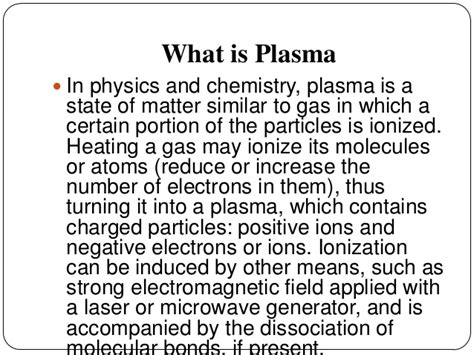 what is matter definition plasma physics