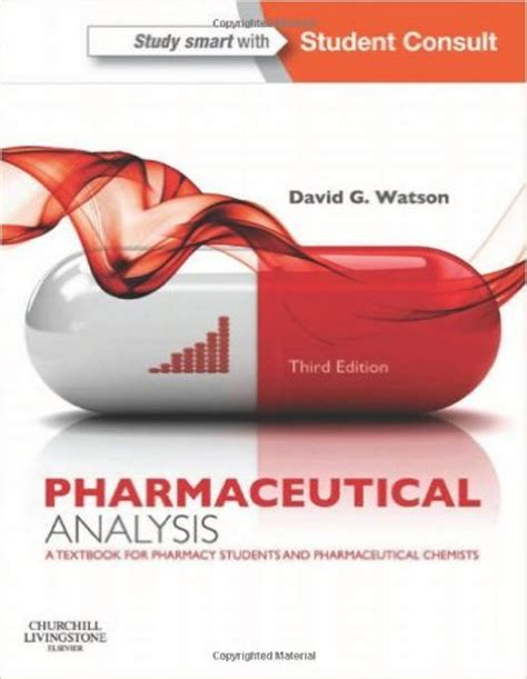 For The Pharmaceutical Industry Students Book Original pharmaceutical analysis a textbook for pharmacy students and pharmaceutical chemists 3rd