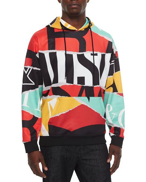 Moschino Hoodie Raglan moschino multicolor large logo print hoodie for lyst