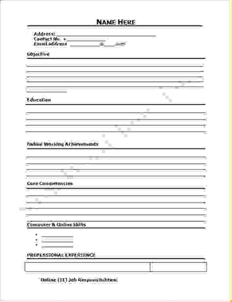 10 blank job application templateagenda template sle