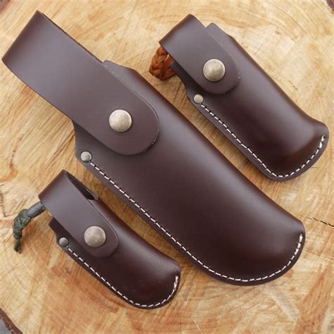 Kitchen Light Cover - tbs leather large folding knife pouch