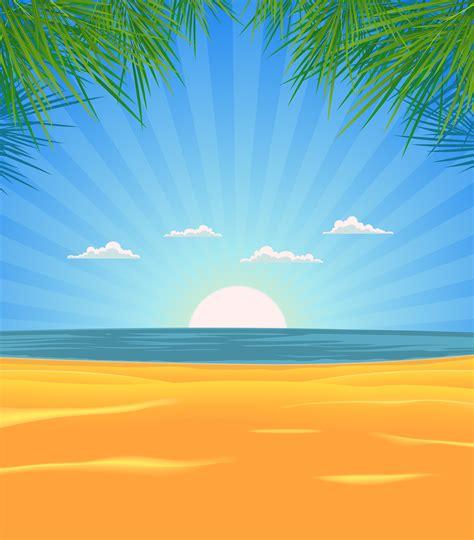 summer beach landscape download free vectors clipart