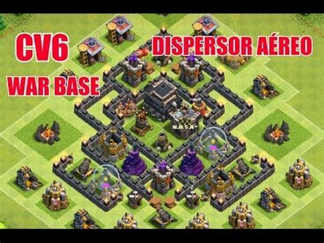 layout cv 6 guerra youtube clash of clans melhor layout de guerra cv6 best war