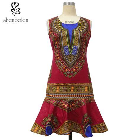 Miekalia Batik Sleeveless Mini Dress Size Xl africa clothing summer 2017 fashion dress for