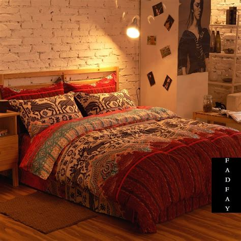 bohemian bed set modern boho bedding set branded 100 cotton home choice