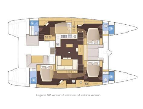 catamaran floor plans lagoon 52 charter