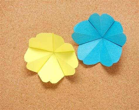 Flat Origami Flower - how to make paper tropical flowers 13 steps with pictures