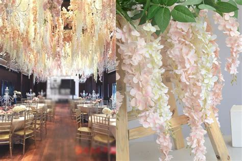 Wedding Arch With Wisteria by 50pcs Artificial Hydrangea Wisteria Flower For Diy