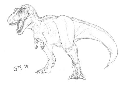 Drawing T Rex Dinosaur by The Gallery For Gt T Rex Drawing Easy