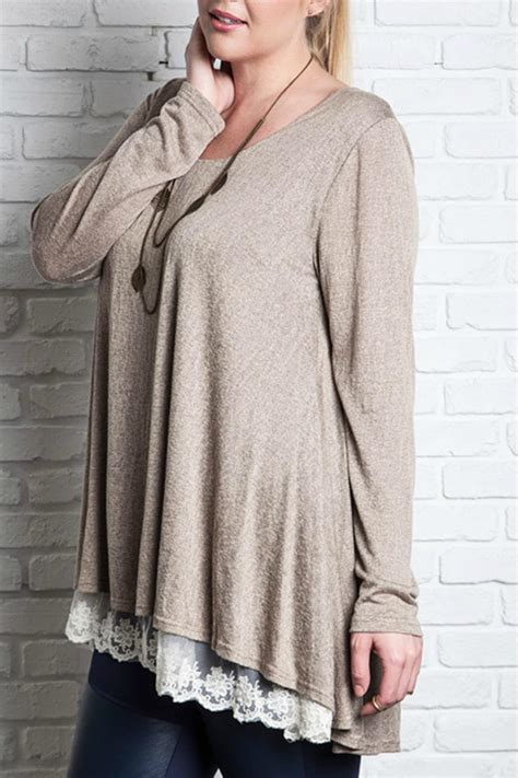 Promo Mocha Tunic Termurah umgee usa mocha lace tunic from mississippi by abbye grey shoptiques
