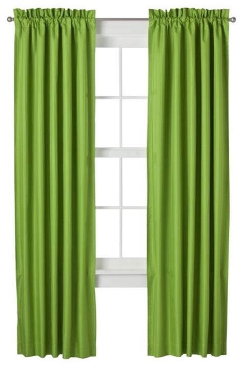 Eclipse Bailey Window Panel   Lime   Modern   Curtains